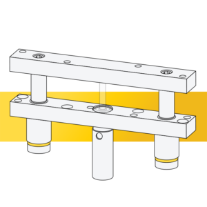 Line drawing rail lifter