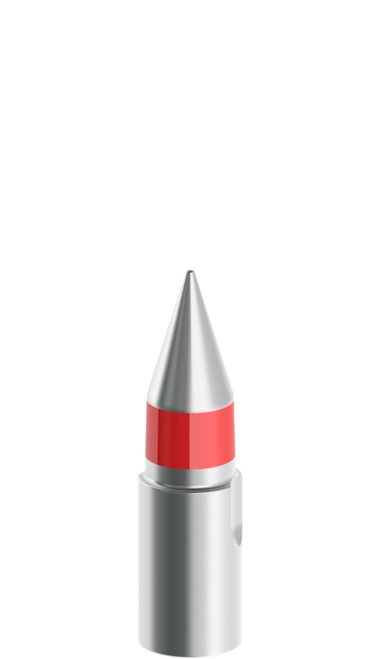 20mm-13mm Silver Tapered Pilot with red stripe