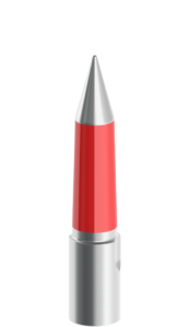 20mm-50mm Silver and Red Tapered Pilot