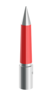 20mm-65mm Silver and Red Tapered Pilot