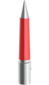 20mm-75mm Silver and Red Tapered Pilot