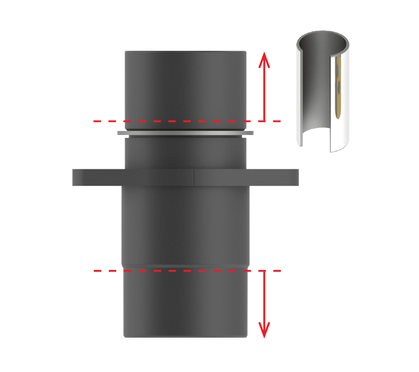 Long and tall base options for bushings with small standard bushing