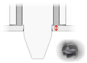 Thickness labeled by red arrows of plate