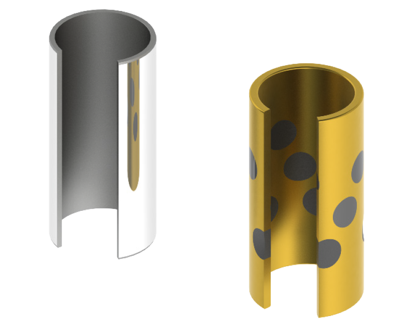 Standard vs. Bronze/Graphite Plugged option to support tooling applications